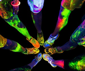 neon, party, and friends image