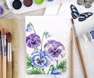 art, violet, and blue image