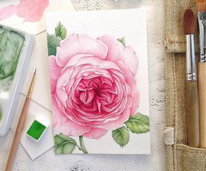 art, Paper, and rose image