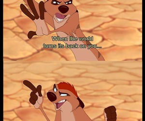disney, lion king, and timon image