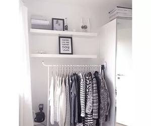 bedroom, clothes, and fashion image