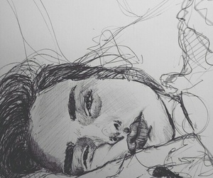 amazing, sketch, and woman image