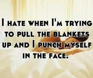 funny, blanket, and sleep image