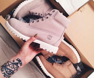 timberland, boots, and pink image