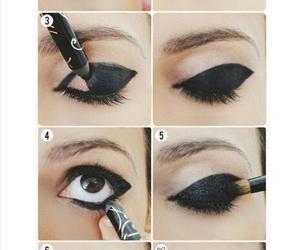 makeup, black, and eyes image