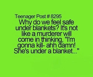 teenager post, funny, and blanket image
