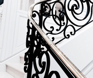 white, luxury, and stairs image