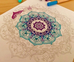 mandala, drawing, and draw image