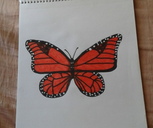 art, butterfly, and dibujo image