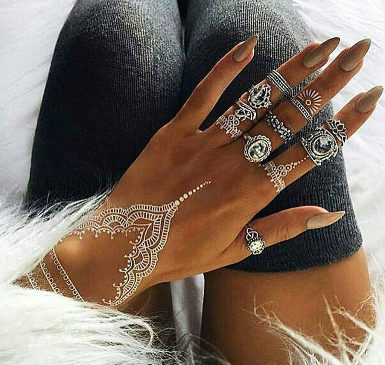 love it, nails, and tattoo image