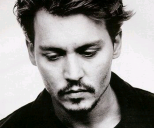 johnny depp, actor, and black and white image