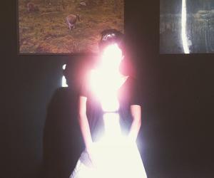dark, girl, and gleam image