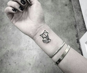 tattoo, fox, and black image