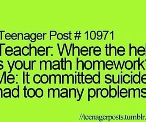 funny, teenager post, and math image