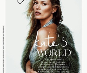 kate moss, model, and vogue image