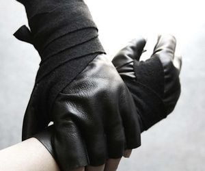 black and gloves image