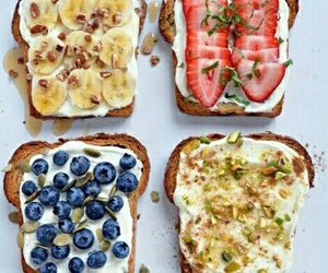 food, toast, and yummy image