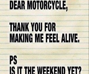 motorcycle and quote image