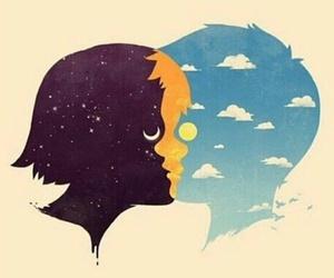 love, night, and sun image