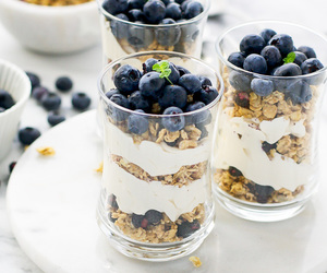 berries, food, and parfait image