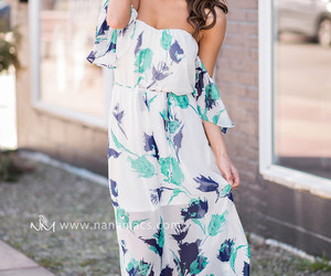 dress, floral, and maxi image