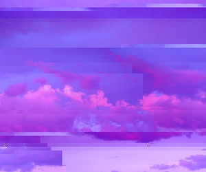 pink, clouds, and grunge image