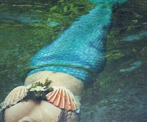 mermaid, fairytale, and fantasy image