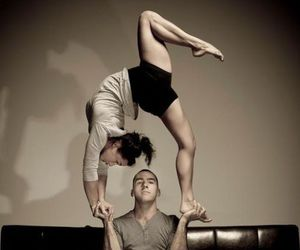 yoga, couple, and dance image