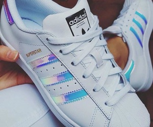 adidas, holographic, and superstars image
