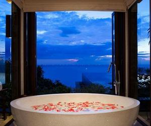 bathroom, roses, and beautiful image