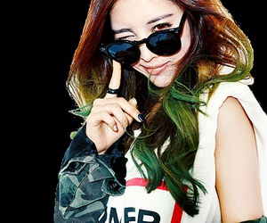 shades, do hwe ji, and green hair image