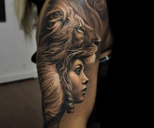 arm, tattoo, and woman image