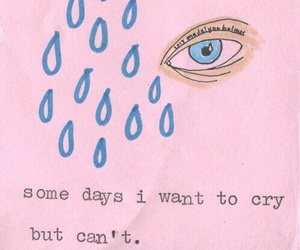 cry, sad, and pink image