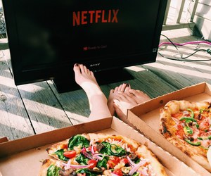 netflix, food, and pizza image