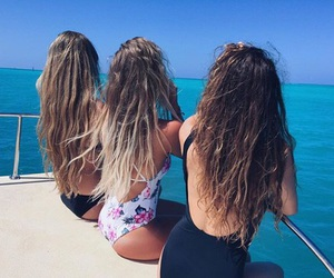 friends, hair, and summer image