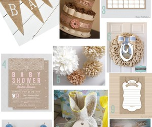 baby, decorations, and shower image