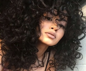 curly hair, gorgeous, and nude lips image