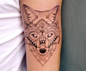 tattoo, wolf, and art image