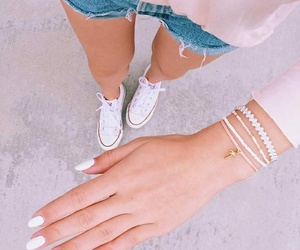 fashion, nails, and girls image