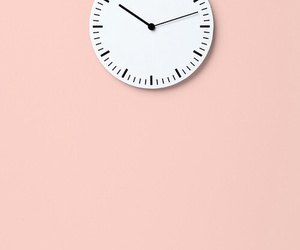 pink, clock, and aesthetic image