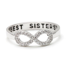girls ring, best friend ring, and best sisters image