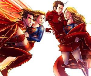 Supergirl, the flash, and kara danvers image