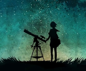 stars, night, and anime image