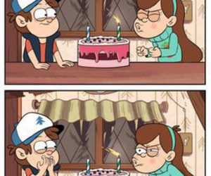birthday, gravity falls, and dipper pines image