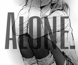 alone, anime, and sad image