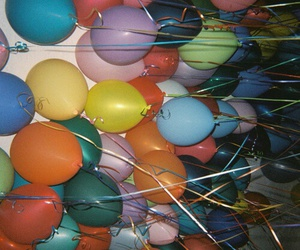 balloons, party, and grunge image
