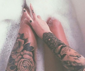 tattoo, Tattoos, and roses tattoo image