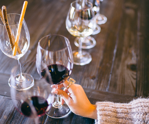 drink, girl, and wine image