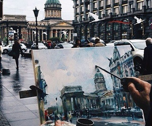 art, city, and painting image
