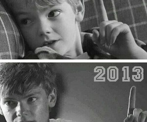 the maze runner, newt, and thomas sangster image